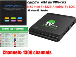 Wholesale Sky Android - M8S mini RK3229 Android tv box QHDTV IPTV BOX Europe Arabic Iptv France Sky IT TR UK DE 1300+ Channels 2000 VOD supported 4K*2K Video H.265