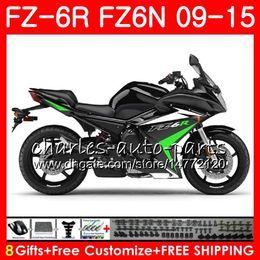 Canada Noir brillant Corps Pour YAMAHA FZ6N FZ6 R FZ-6N FZ6R 09 10 11 12 13 14 15 82NO19 FZ-6R FZ 6N FZ 6R 2009 2010 2011 2012 2013 2014 2015 Carénage cheap fz 6r fairings Offre