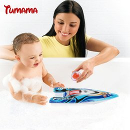 Wholesale Toy Boat Bath Water - Wholesale- Kids Children Inflatable Wind Up Speedboat Boat Pool Bath Toy Party Bag Filler Yacht model toys children water