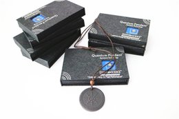 Wholesale Scalar Energy Card Pendant - free shipping 13pcs scalar energy pendant quantum science pendant with box and card