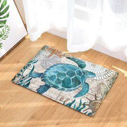 Wholesale washing chairs - vintage marine tapete whale sea horse carpet turtle doormat octopus kitchen bathroom floor mat for home office chair