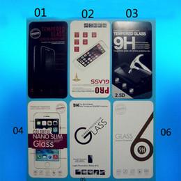 Caja de paquete de cristal al por menor para 9H 2.5D Vidrio templado protector de pantalla Película iPhone Samsung htc LG Huawei Nokia Sony Alcatel BQ moto wiko desde fabricantes