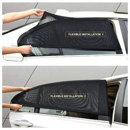 Wholesale dust protection - Wholesale- 2Pcs Car Window Cover Sunshade Curtain UV Protection Shield Sun Shade Visor Mesh Solar Mosquito Dust Protection Car-covers New