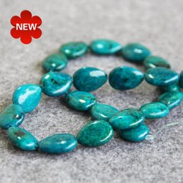 Wholesale Azurite Chrysocolla Beads - New Necklace&Bracelet Accessories 13X18mm Natural Multicolor Azurite Chrysocolla beads jade Jadedrop shape 15inch Jewelry