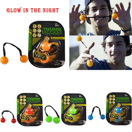 Wholesale Grow Toys Wholesale - New Thumb Chucks Grow in Dark Fidget Ball Toy YOYO Finger Extreme Movement Control the Roll Spinner Anti Stress Anxiety Relief Toys Spinner