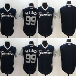 Wholesale Cheap Yankees Jersey - Mens 99 Aaron Judge All Rise New York Yankees Jersey 2017 Players Weekend Blank 24 Gary Sanchez Kraken Baseball Jerseys Cheap Mix Order