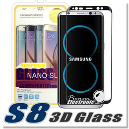 Wholesale Glass 3d - For S8 S9 S9 Plus S8plus Note 8 Full Cover Curved Glass S6 S7 Edge 3D Curved Screen Protector tempered glass With Retailbox