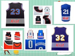 Wholesale Children Size Jerseys - 2017 Youth Kid basketball jersey All popular players jersey the size of the child Cheap sales 100% stitched Embroidery Logos Free Shipping