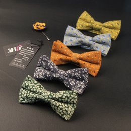 Wholesale Korean Suits Ties - Wholesale- 2016 High-Grade Korean Bow Tie Man Casual Fashion Cotton Printing Butterfly Ties For Man's Suit New Design Men And Women Bowtie
