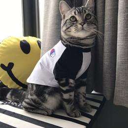 Wholesale Dog T Shirts - Cut Pet T-Shirts Tide Brand Cute Teddy Puppy Schnauzer Apparel Summer T-Shirts Outwears Small Dog Cat Clothing