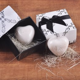 Wholesale Heart Scented Soap - Mini Handmade Cute Love Heart Scented Soap Wedding Favor souvenirs festival gifts Baby Shower gifts black box packing