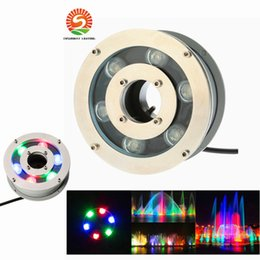 Wholesale Led Pool Lights - 6W 9W 12W 18W RGB Led pool Light Free Shipping AC 12V 24V Underwater Lights Fountains Led Waterproof IP68