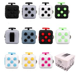 Wholesale Fun Science Toys - Magic Fidget Cube Colorful Fidget Spinner Stress Relief Toys Squeeze Fun Anti-anxiety Decompression Toys Boredom Attention Toys with Box