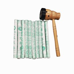 Wholesale Acupuncture Chinese - Traditional Chinese Moxa Burner Box With 10 Moxa Stick Rolls - Burning Herb For Antistress & Acupuncture health physiotherapy
