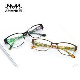 Wholesale Frame Glasses Online - Wholesale- Latest Eyewear fRAMES Vintage Silver Online Female Eyeglasses Frames Clear Lens Optical Glasses Frame for Women Horn-rimmed