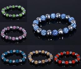 Wholesale Cheap Macrame Disco Ball - Shamballa Crystal Beads Bracelets Macrame Disco Ball Bracelets Armband Cheap China Fashion Jewelry Charm Bracelet Free Shipping