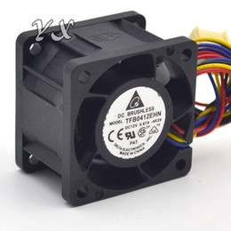 Wholesale Double Fans - New TFB0412EHN 4028 0.87A ultra violent double ball bearing fan 4 cables used to the server
