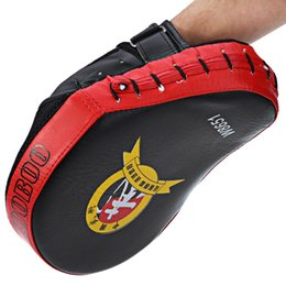 Wholesale Focus Gear - Hot Zooboo PU Leather Punching Kicking Palm Pad Target MMA Boxing Mitt Training Focus Punch Pad Elbow Guard Finger Guard for Boxing +B