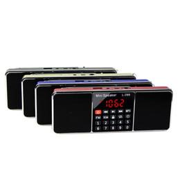 2019 haut-parleur du lecteur multimédia Radio numérique FM stéréo double canal multimédia avec haut-parleur lecteur MP3 avec minuterie de veille radio FM Y4368 promotion haut-parleur du lecteur multimédia