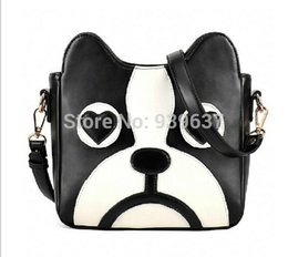 Wholesale dog sweets - Wholesale-High quality Women bag 2016 New hit color fashion handbags quality PU leather Women sweet cartoon cute little dog pack