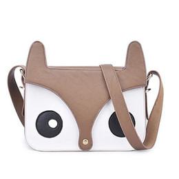 Wholesale Wholesale Messanger Bags - Wholesale-Women bag 2016 pu leather handbag women messanger Cartoon Fox Handbags Girls Shoulder Bag Tote Satchel Cross Body Bag Ladies