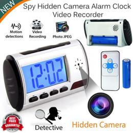 Wholesale Nanny Cam Clocks - Spy Camera Alarm Clock Mini Video Recorder Hidden Cam DVR Motion Detection nanny cam Surveillance