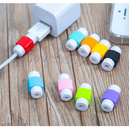 Wholesale Cord Sleeves - Universal Saver USB Cable Protector Sleeve Android Mobile Phone Charger Cord Protector Cover Silicone For IPhone 7 6 plus Line Protective