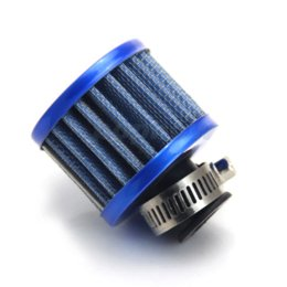 Wholesale Accessories Air Filters Car - 12mm Blue Car Motor Cold Air Intake Filter System Turbo Vent Crankcase Breather Auto Replacement Parts Car Accessories #7091