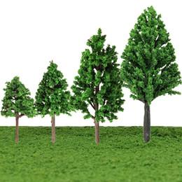 Wholesale Plastic Trees Model - Wholesale- 5pcs set 1:100-300 5cm 6cm 8cm 10cm Train Layout Model Trees Scale Garden Scenery Railroad landscape Mini Model Trees Toys