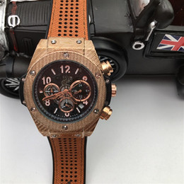 Wholesale Trendy Fashion Watches - 2018 Trendy High End Design Watch Leather Bracelets Watches for Mens Fashion Show Functional Best Watch