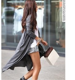 Wholesale Cardigans Maxi Long Length - Wholesale- 13 colors 2017 Casual Thin Knitted Long Button Cardigan Women Sunscreen Modal Maxi Cardigan Loose Long Sleeve Ankle Length
