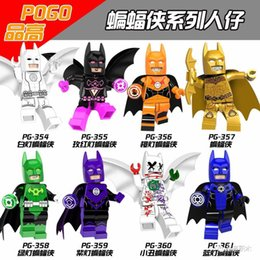 Wholesale Hugo Men - 120pcs Mix Lot Super Heroes Invisible Man Hugo Strange Arkham Flash Edward Oswald Bricks Building Blocks Children Gift Toys PG8076