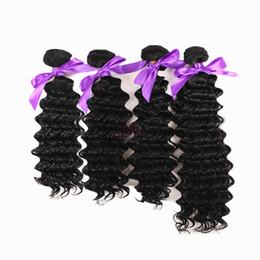 königin lieben reines haar Rabatt 4 bündel tiefe welle Haareinschlagfaden-faser natürliche schwarze farbe 1B für volle kopf billig synthetische Haarwebart Erweiterung kostenloser versand