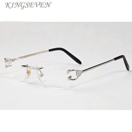 2017 бренд дизайнер негабаритных без оправы солнцезащитные очки для мужчин и женщин уникальный прозрачный стиль объектив солнцезащитные очки gafas-де-Сол металлический каркас cheap unique sunglasses lenses от Поставщики уникальные солнцезащитные очки