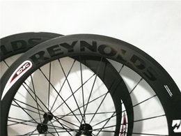 Wholesale Race Wheelset - REYNOLDS Decal 50mm Clincher Wheelset 700c 23mm Width UD Matte Cycling Racing Road Carbon Wheel