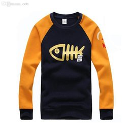 Wholesale Fishing Hoodies - Wholesale-2015 Hot Sale Men's Fashion O-neck Big Fish Design Hoodies Male Casual High Quality Sweatshirts Autumn Winter Wear Plus Size