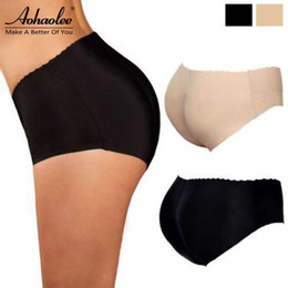 Wholesale Silicone Panties - Wholesale- Sexy Panty Knickers Buttock Backside Silicone Bum Padded Butt Enhancer Butt Lifter Up Underwear Shorts Enhancer Shapewear Panty