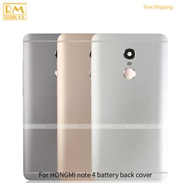 Wholesale housing full case - 1pcs For Xiaomi Redmi 3, Note 4 Battery Cover Back Housing Full Back Cover Door Rear Case Gold Grey Silver Color Cellphone Parts