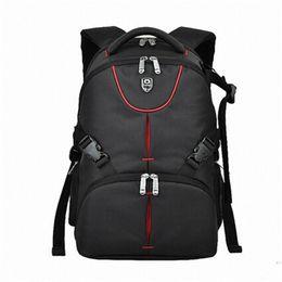 Wholesale Digital Slr Video Camera - Wholesale- 15.6 inches laptop backpack Waterproof Photo Digital DSLR Camera Bag Photography Camera Video Bag SLR Camera+Rain Cover