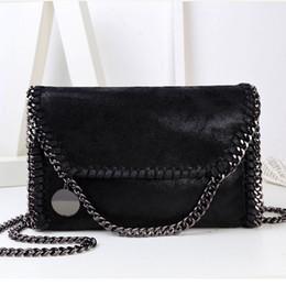 Wholesale Evening Clutch Bags Womens - Wholesale- Fashion Womens Stella Design Chain Detail Cross Body Bag Ladies Shoulder bag clutch bag bolsa franja luxury evening bags