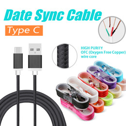 Wholesale Iphone Colorful Usb Cable - Mirco USB Cable Colorful Braided Type C Cable For Samsung S8 Plus Date Sync Wire Cable For Android Cell Phones without Package