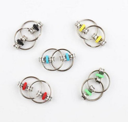 Wholesale Pressure Direct - Factory direct sale outlet pressure relief toy Key Ring Fidget fingertips gyro Key Ring chain buckle