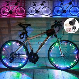 Wholesale Open Wheels - Wheel Lights Auto Open and Close 2.2m 20 LED Bicycle Wheel Spoke Light String Bicycle Tire Accessories Waterproof