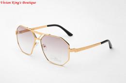 Wholesale Vintage Framed Butterflies - Wholesale-2016 Vintage Sunglasses for Men and Women Sonnenbrille Brand Designer Sun Glasses Polygon Frame Gafas De Sol JWW140