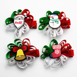 Wholesale Wholesale Girls Hair Bubbles - 2017 new Children's Hair Clips Cute Baby Girls Big bow bubble flower Hairpin Girl Christmas headdress 2017 hair Clips Festival Gifts A7397