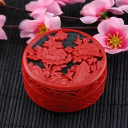 Wholesale Make Trips - Manual Wooden Jewelry Box Carved Lacquer Ware Gift Paint art Carving Case Chinese traditional arts Hand made Hot in Canada 27 Styles DHL