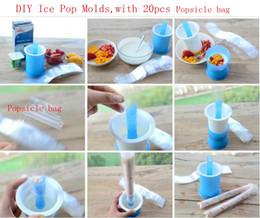 Wholesale Resealable Plastic Pouches - Ice Pop Pouch Molds Popcicle Resealable Pouch Bags DIY Popsicle Mold Bags with 20 pcs Popsicle bag LJJK675