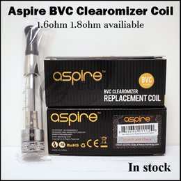 Wholesale Vivi Nova Coil Heads - 100% authentic Aspire bvc replacement coils clearomizer coil heads for Aspire CE5-s vivi-nova mini ce5 ET-S ets glass k1 k2 k4 tank atomizer