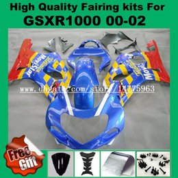 Wholesale Screw Fairings - Injection mold fairing kit for K1 K2 SUZUKI GSXR1000 2000 2001 2002 GSX-R1000 00 01 02 Fairings GSXR 1000 00-02 Bodywork windscreen screws