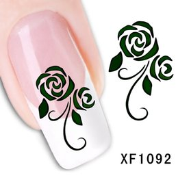Wholesale Nail Art Designs Stickers - Can Mix Design Water Transfer Nails Art Sticker Decals Flower Lady Women Manicure Tools Nail Wraps Decals